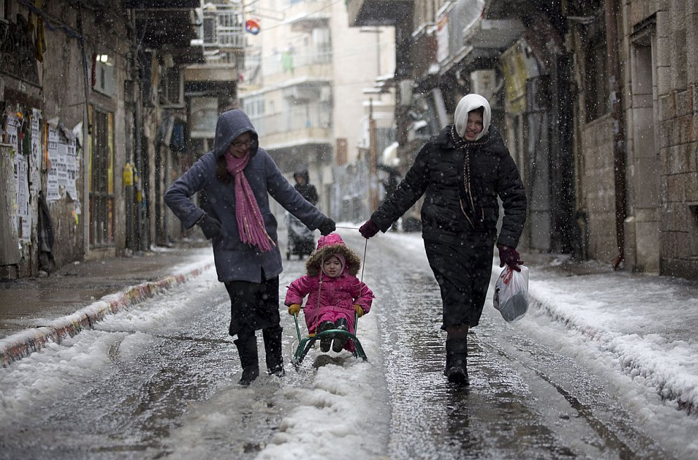 10 января 2013 в Иерусалиме можно было покататься на санках