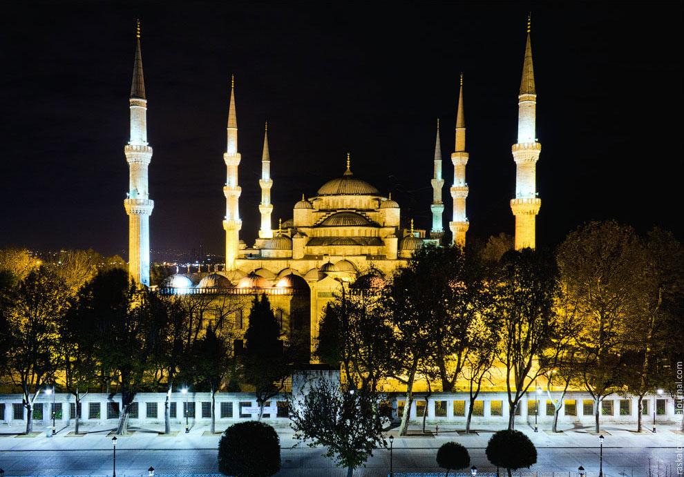 Голубая мечеть с крыши музея исламского искусства