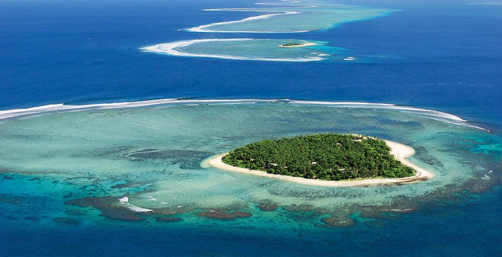 Сердце природы на архипелаге Фиджи в южной части Тихого океана