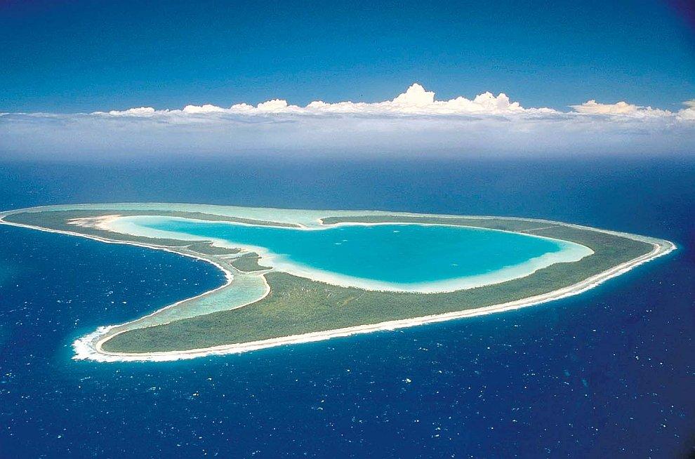 Атолл во Французской Полинезии