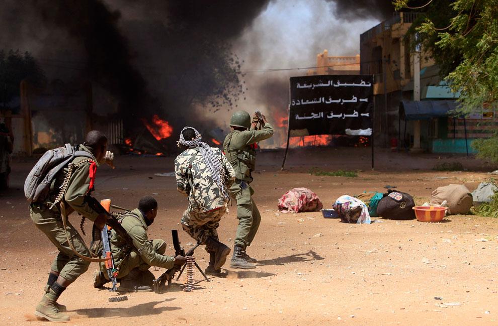 Малийские солдаты в городе Гао
