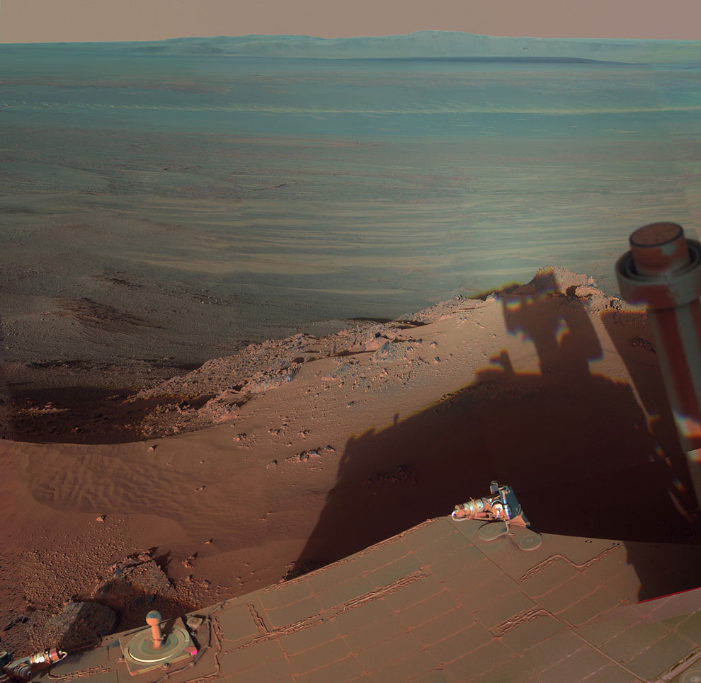 Вид с края ударного кратера Индевор
