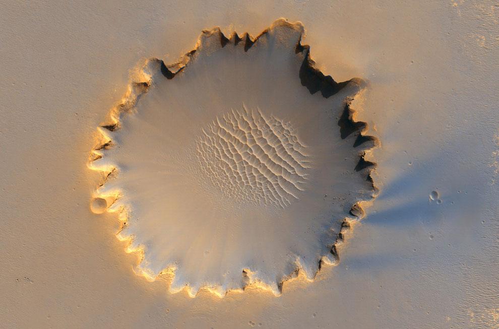 Фотография кратера Виктория