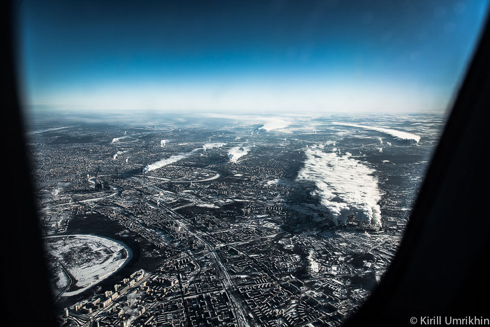 Вид на причудливый изгиб Москва-реки