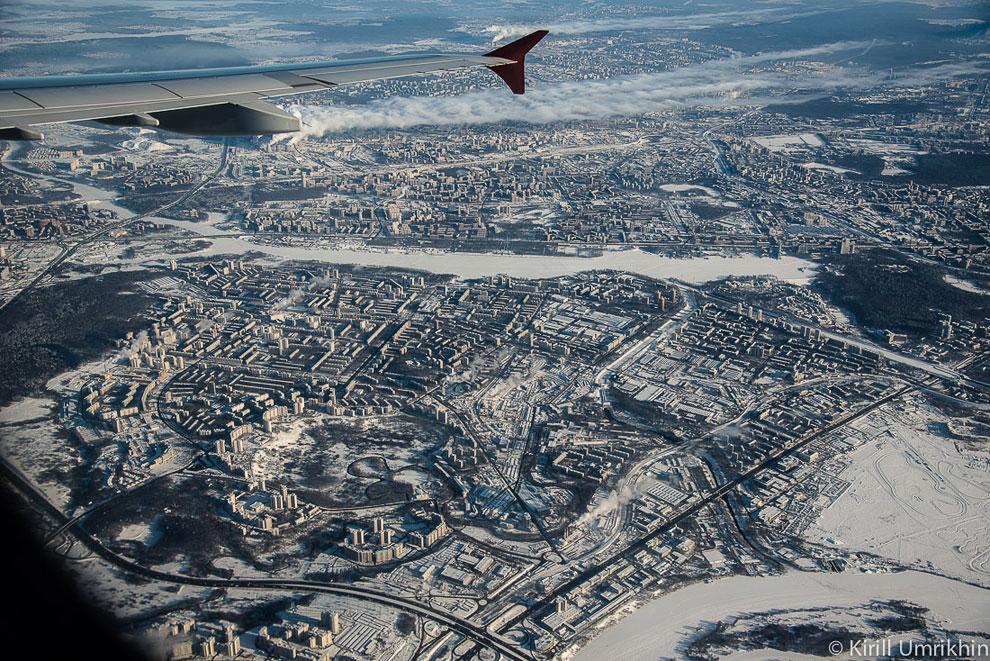 Зимний авто-трек на аэродроме Тушино