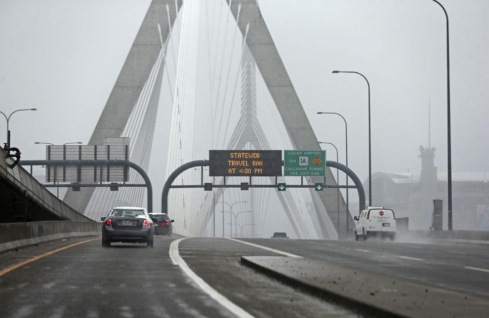 Мост Закима в Бостоне