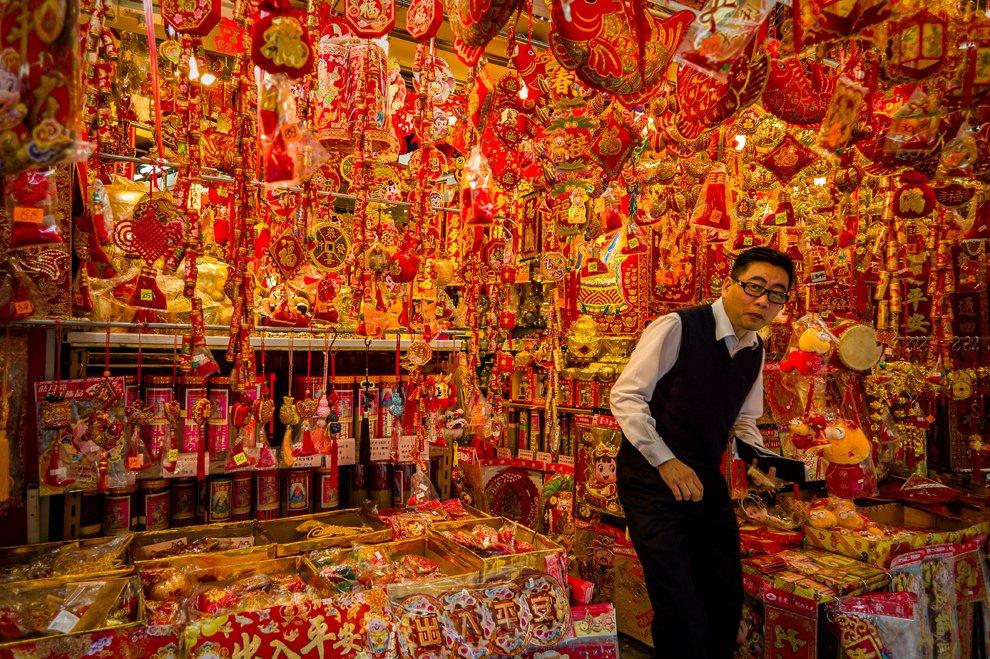 Сувенирная лавка в Гонконге
