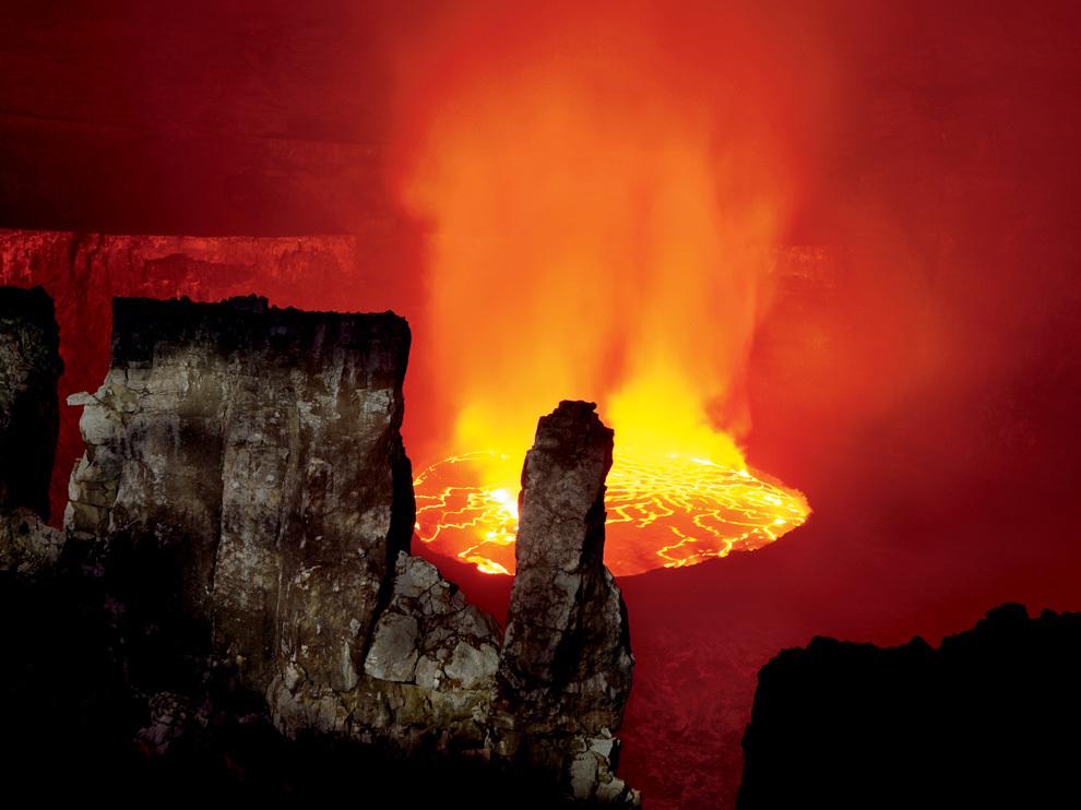 В сердце вулкана Ньирагонго