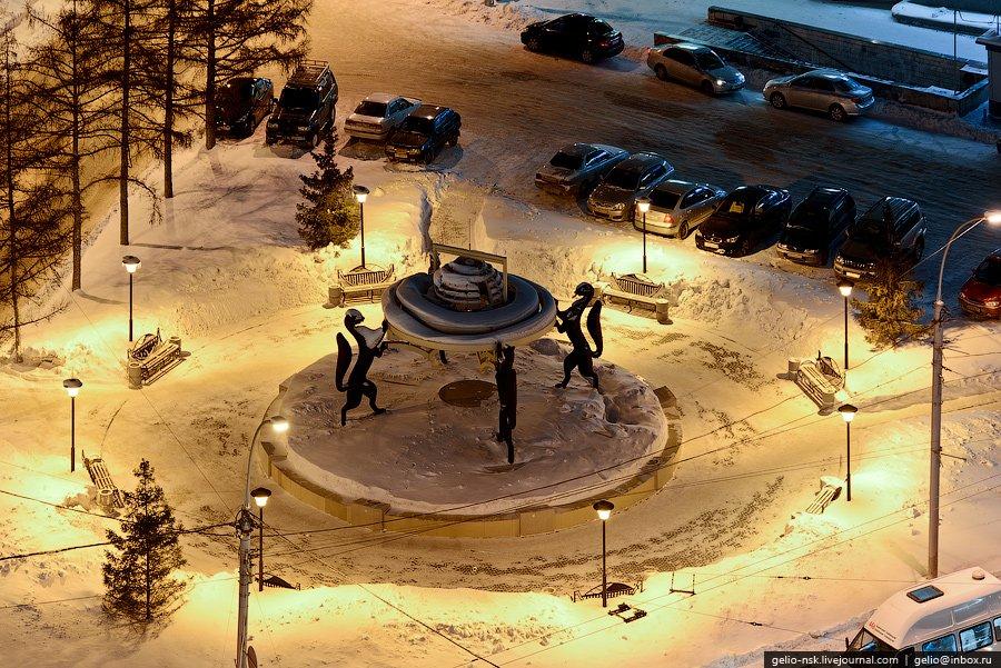 Скульптурная композиция «Сибирские просторы»