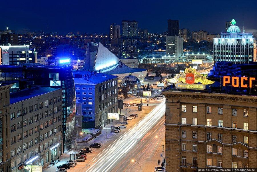 Зимний Новосибирск с высоты