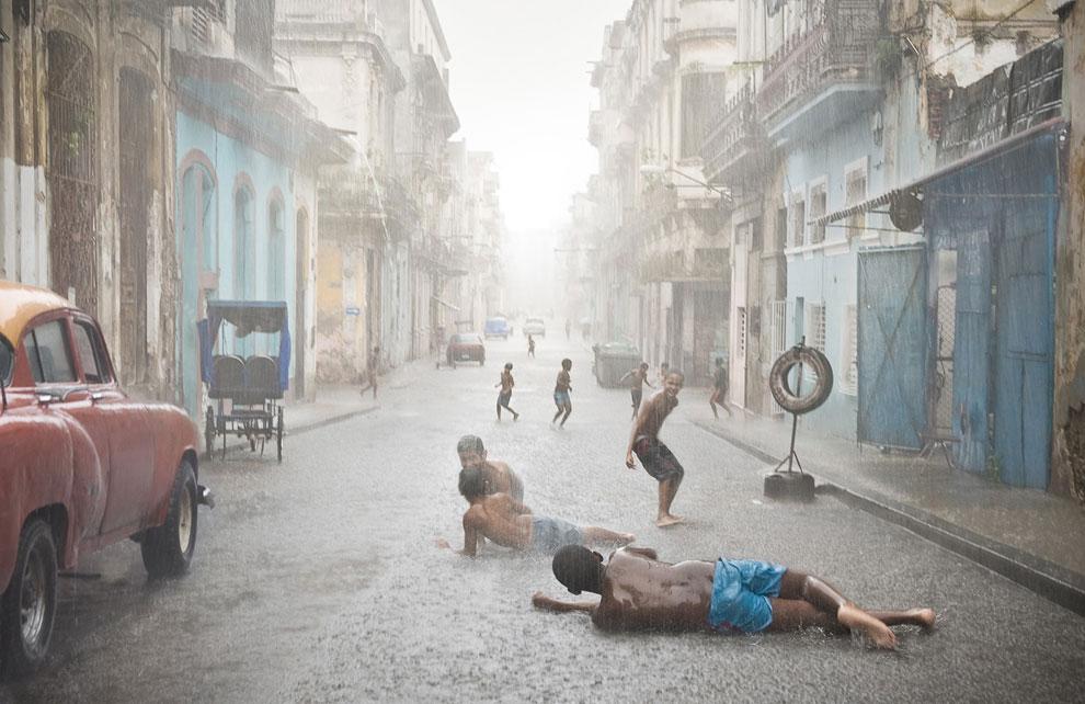 Ливень на улицах Гаваны, Куба