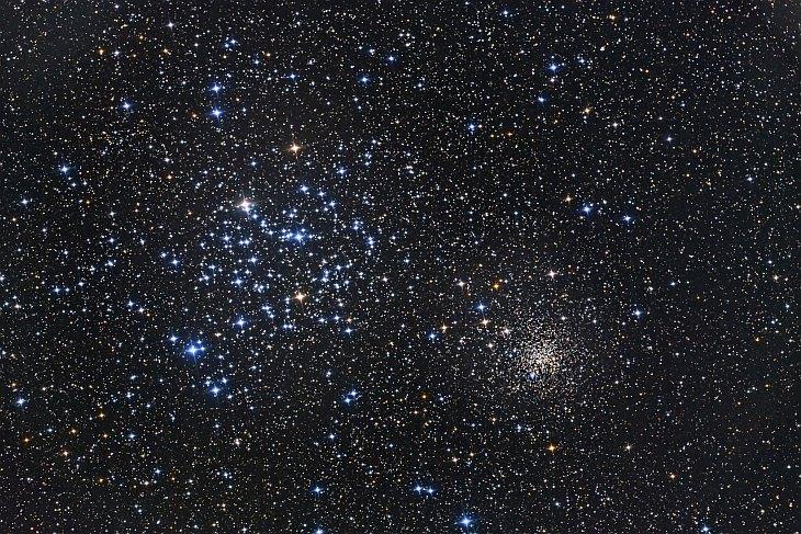 Звездные скопления M35 и NGC 2158