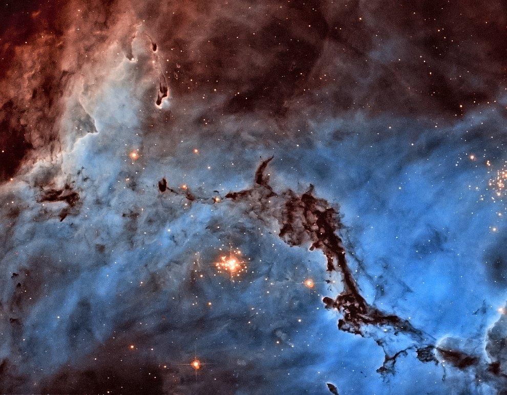 Звездные облака в Большом Магеллановом Облаке