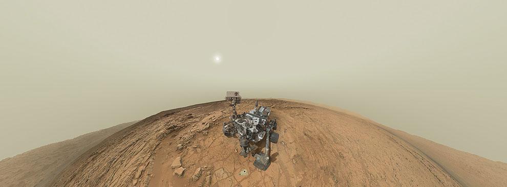 Панорама и автопортрет марсохода Curiosity