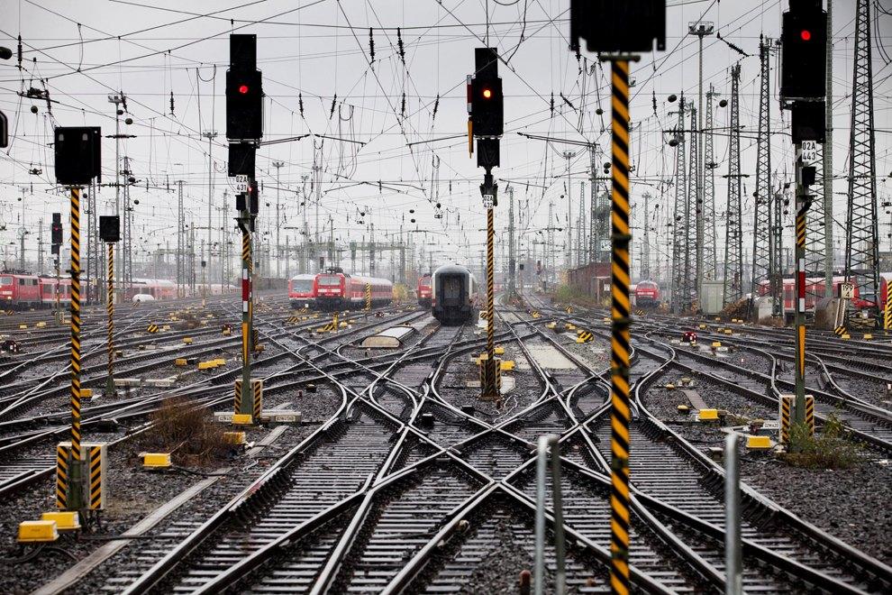 Железнодорожная станция во Франкфурте