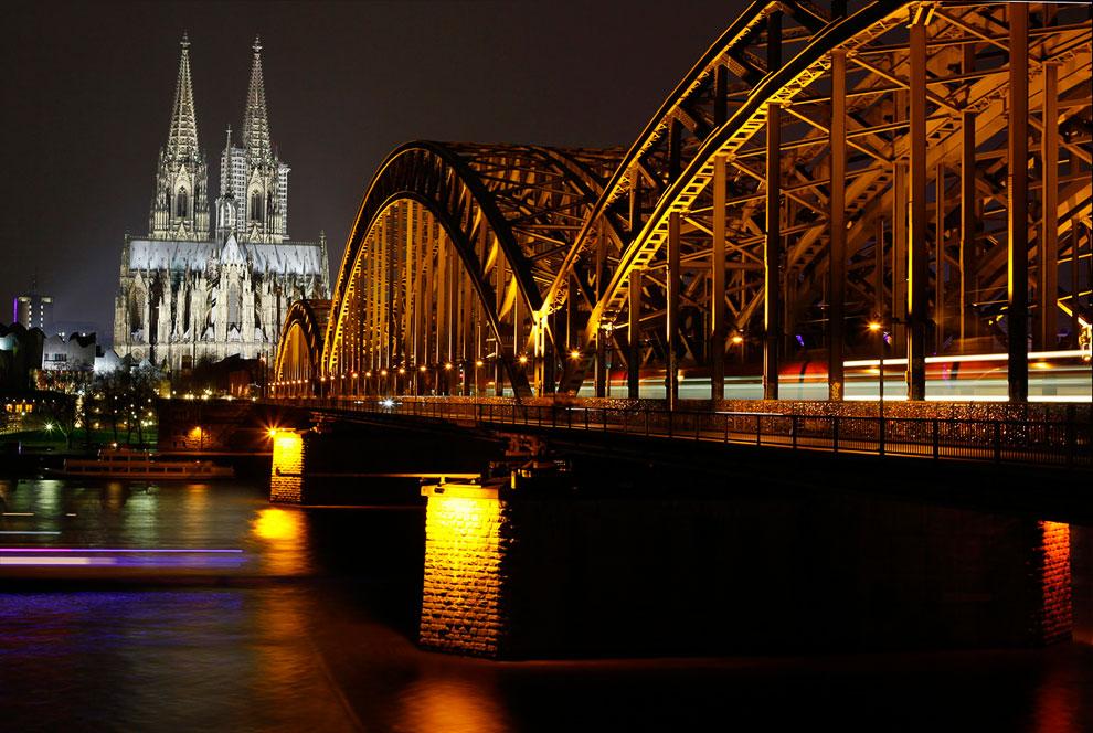 Кельнский собор и мост Гогенцоллернов