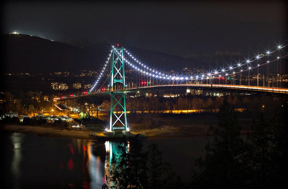 Мост «Львиные ворота» в Ванкувере, Канада
