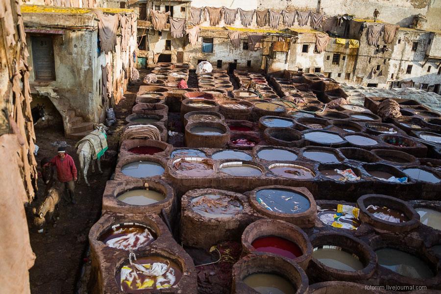 Кожевенные мастерские в Фесе