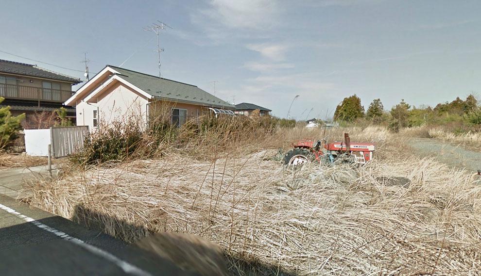 Заброшенный трактор, заросший травой