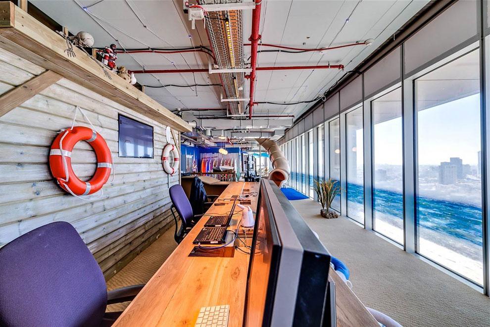 Необычный офис Гугл в Тель-Авиве