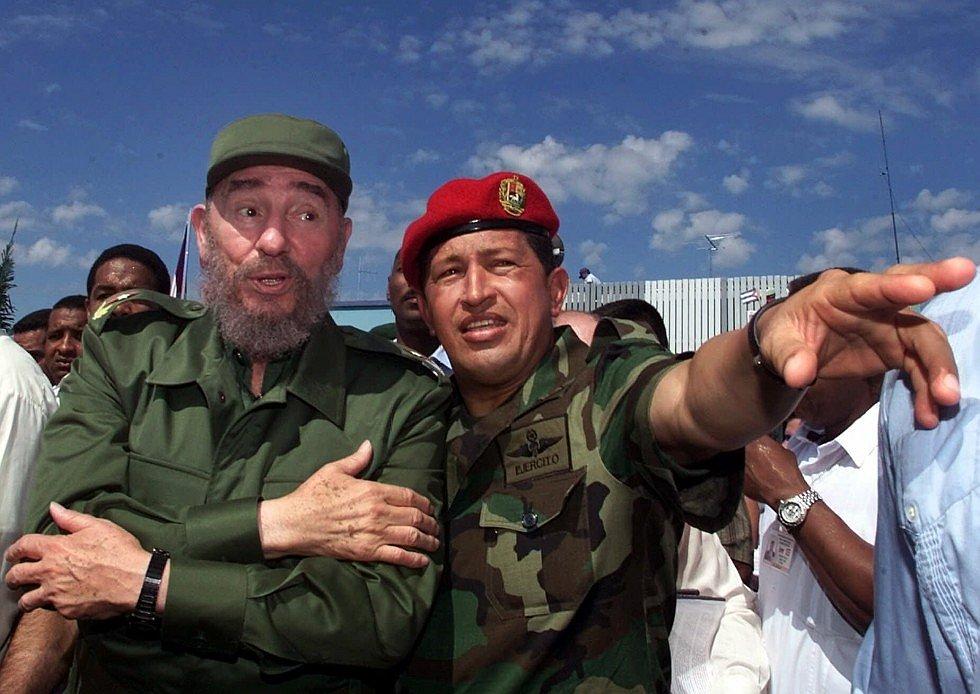 о Чавес встречается в Венесуэле с кубинским лидером Фиделем Кастро