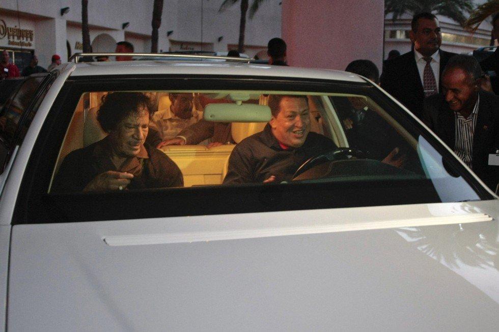 Уго Чавес и Муаммар Каддафи