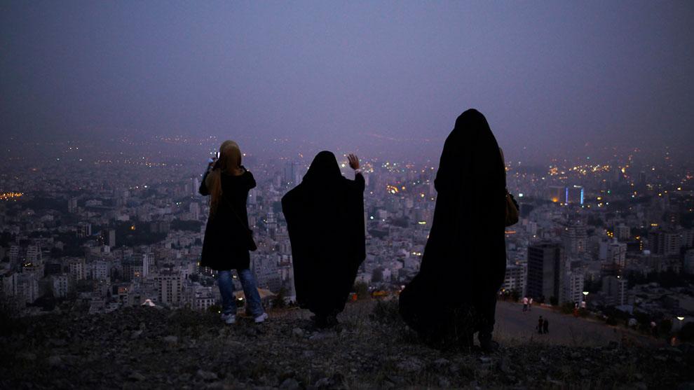 Вид с холма на Тегеран