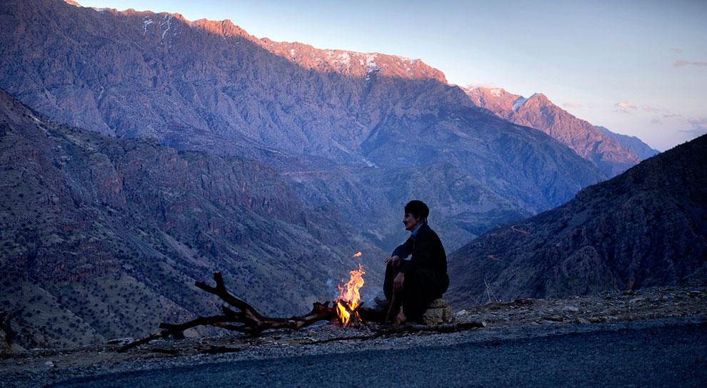 В горах вблизи ирано-иракской границы