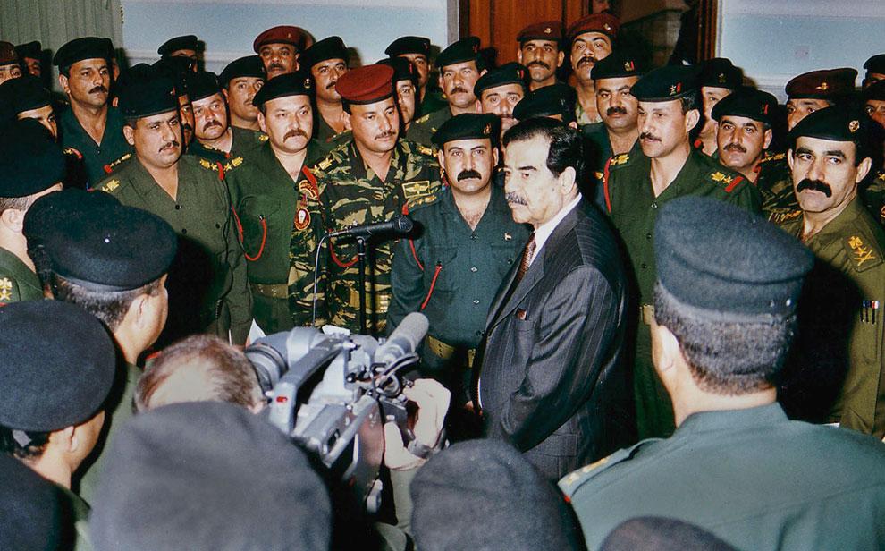 Президент Ирака Саддам Хусейн