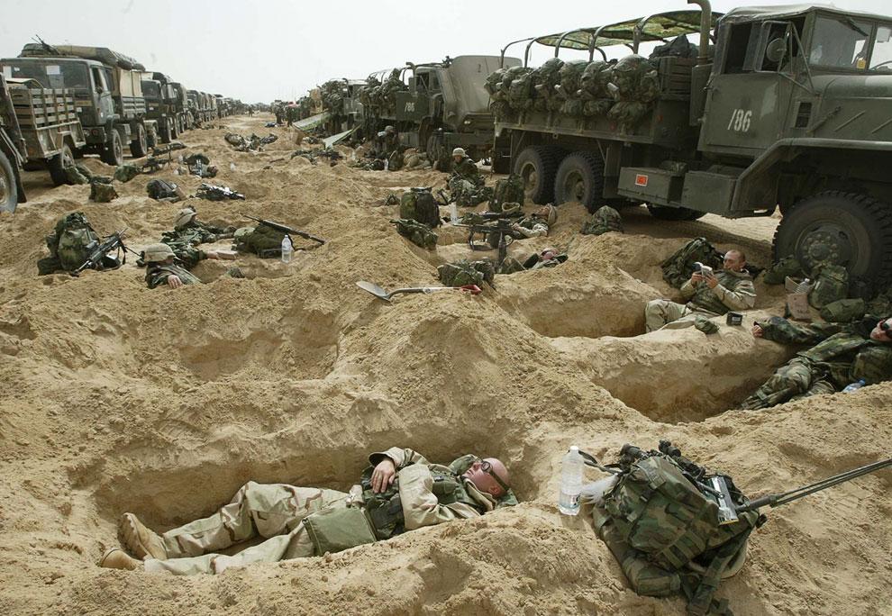 Плацдарм американских военных в кувейтской пустыне