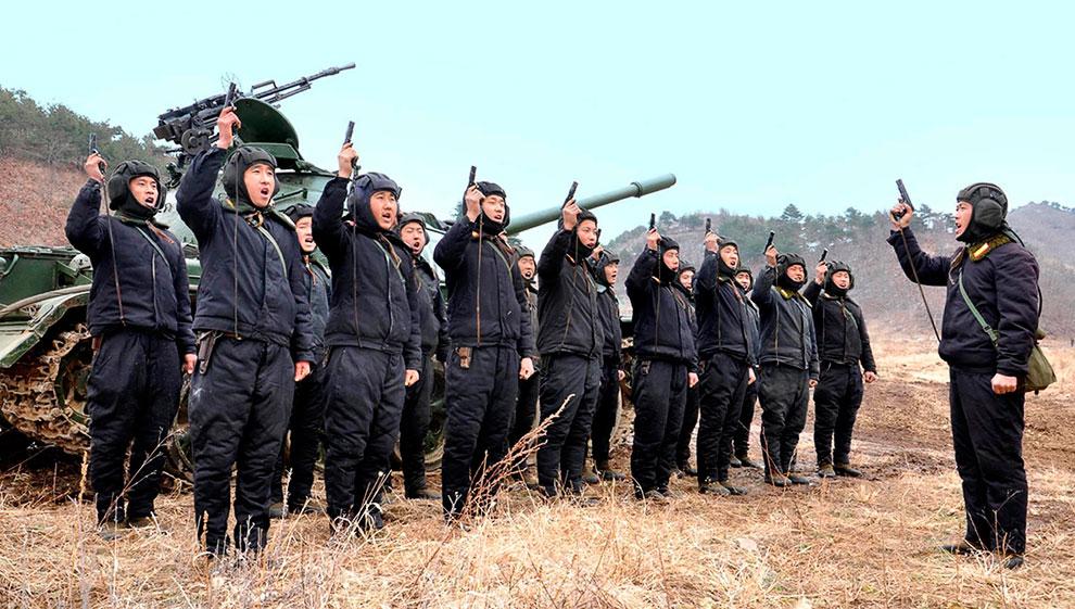 Боевая готовность у танкистов