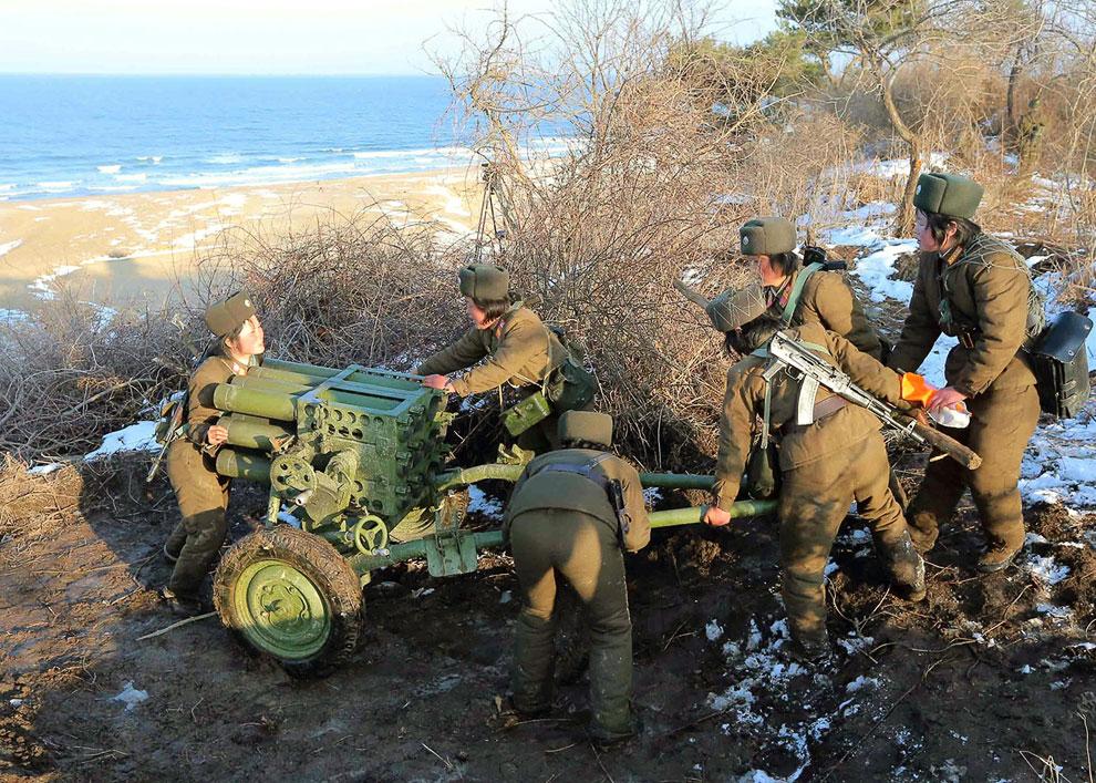 Боевая готовность у артиллеристов