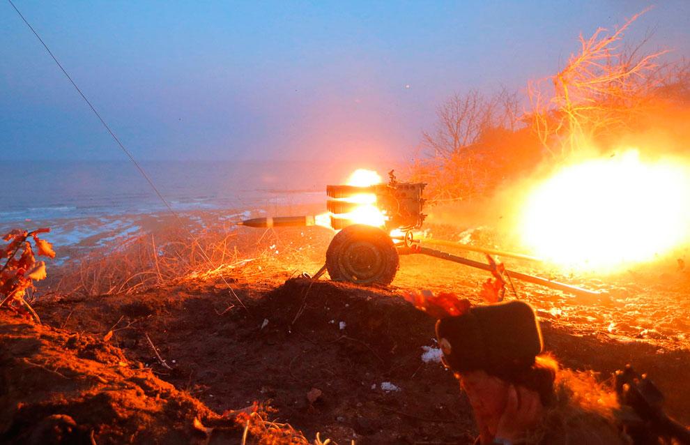 Учения у артиллеристов