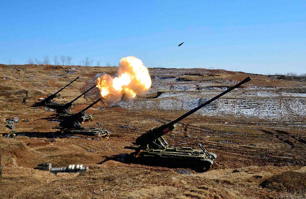 Учения артиллеристов