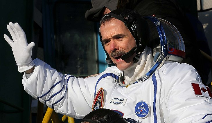 Канадский астронавт Кристофер Остин Хэдфилд
