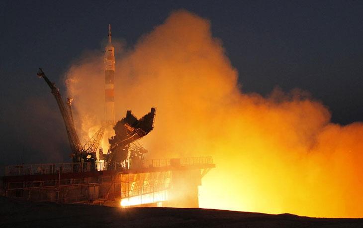 Старт космического корабля «Союз ТМА-07М» с Байконура, 19 декабря 2012
