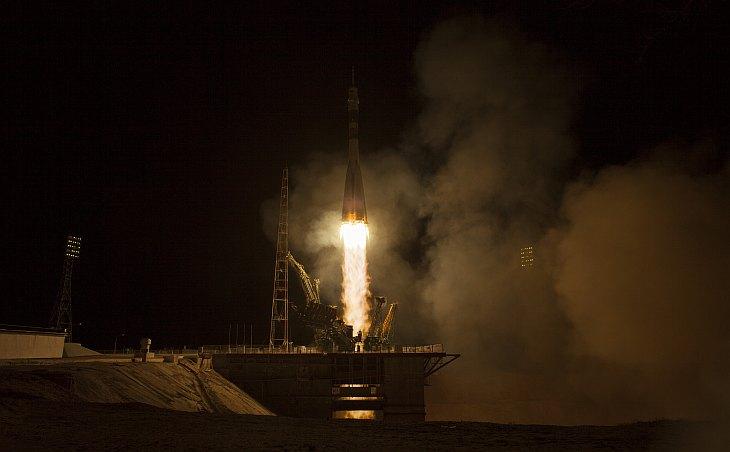 Старт космического корабля «Союз ТМА-08М» с Байконура