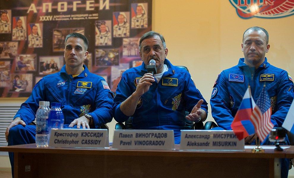 Традиционная пресс-конференция космонавтов