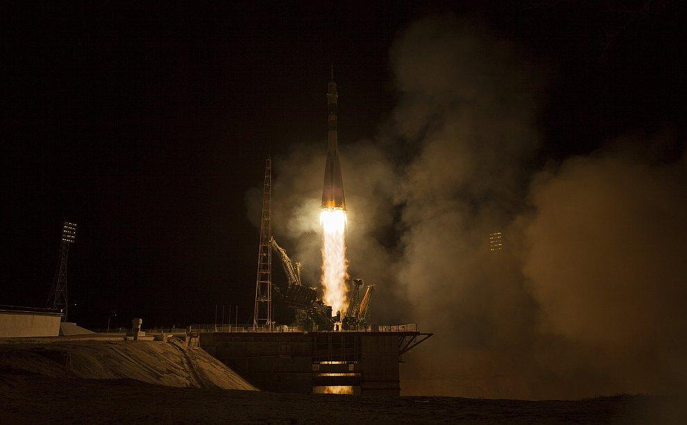 Старт космического корабля «Союз TMA-08М» с Байконура
