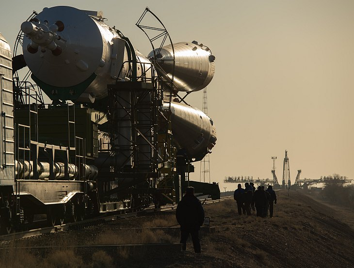 Expedition 35 Soyuz Rollout
