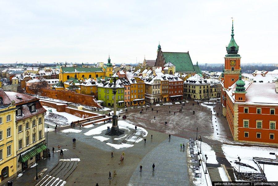 Замковая площадь. Центральная историческая площадь Варшавы