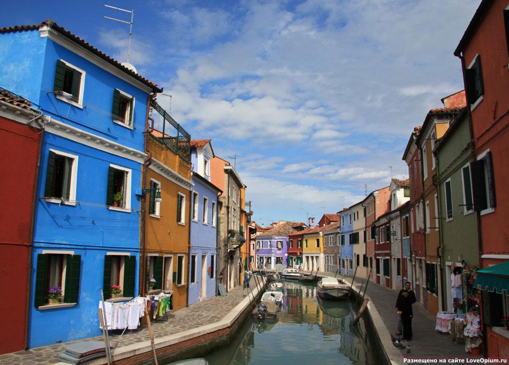 И снова разноцветные домики на островном квартале Венеции Бурано