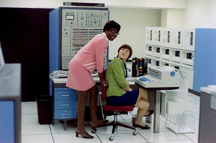 Офисные работники 50 лет назад