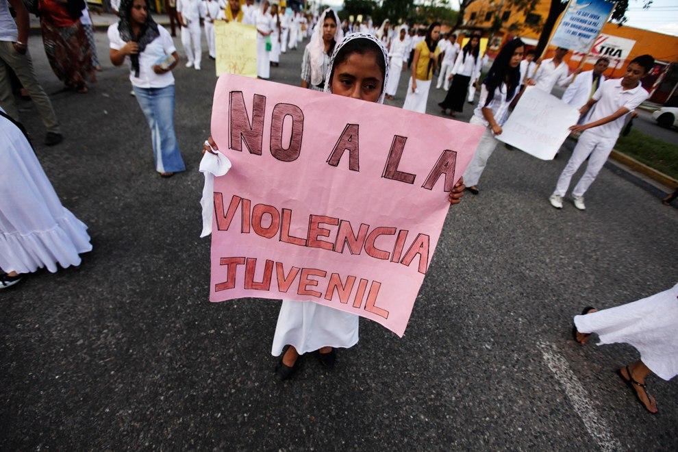 Демонстрация против насилия в Сан-Педро-Сула