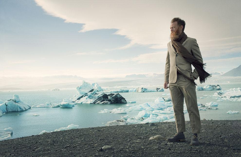 Фотография сделана около ледника в Исландии
