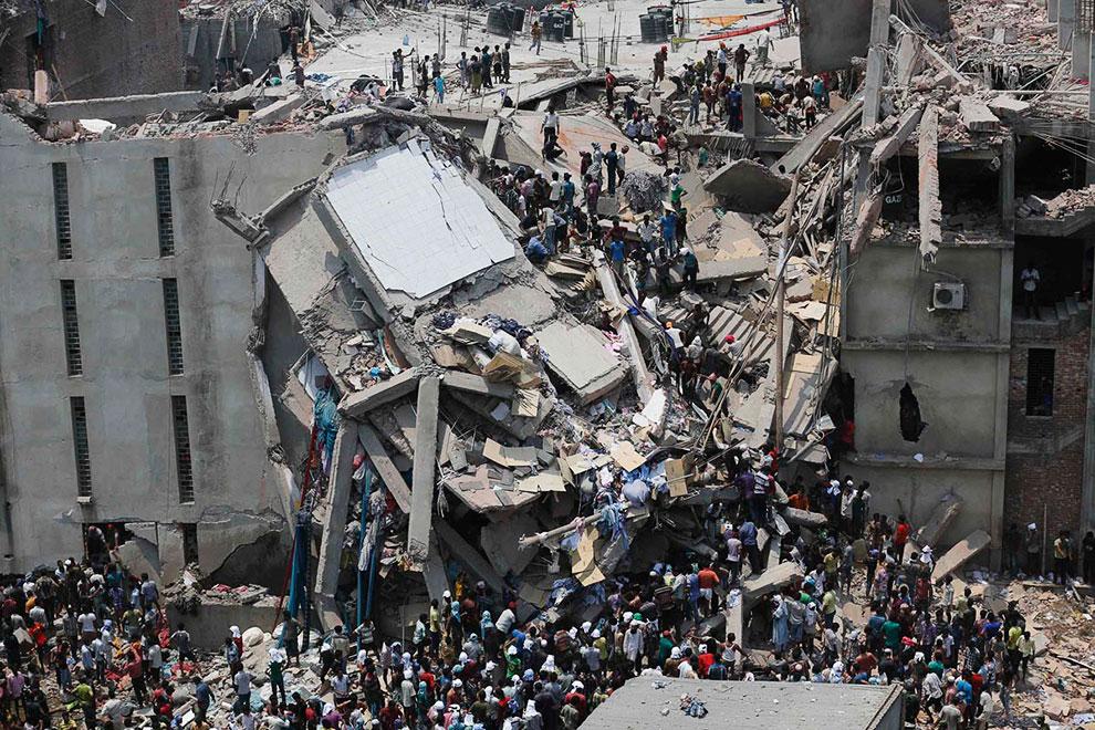 Обрушение здания в Бангладеш