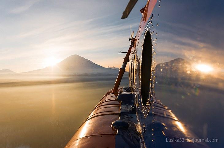 На вертолете над Камчаткой