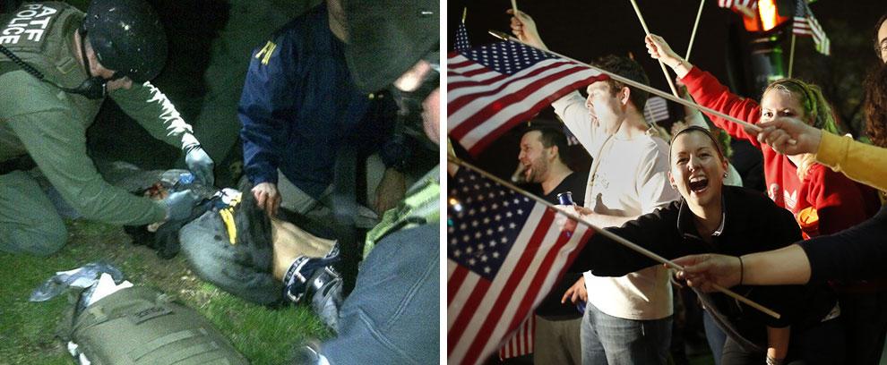 Подозреваемый в совершении первого теракта в США после 9/11 Джохар Царнаев был задержан