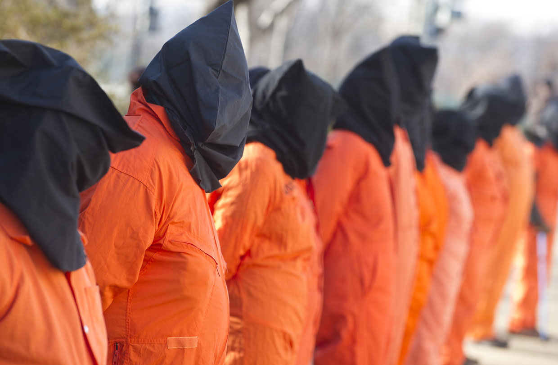 8 января 2013 на Капитолийском холме в Вашингтоне прошла акция протеста против содержания заключенных в военной тюрьме в Гуантанамо