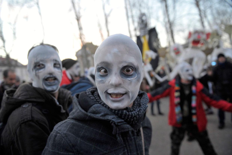 Во время акции протеста в столице Словении Любляне